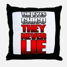 The Eyes Never Lie Throw Pillow