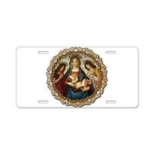Mary and Baby Jesus Aluminum License Plate