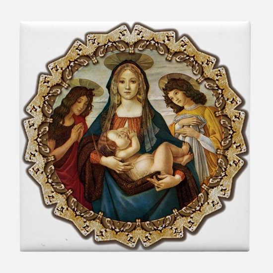Mary and Baby Jesus Tile Coaster