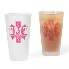 Star of Life EMT - pink Drinking Glass