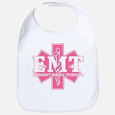 Star of Life EMT - pink Bib