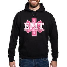 Star of Life EMT - pink Hoodie