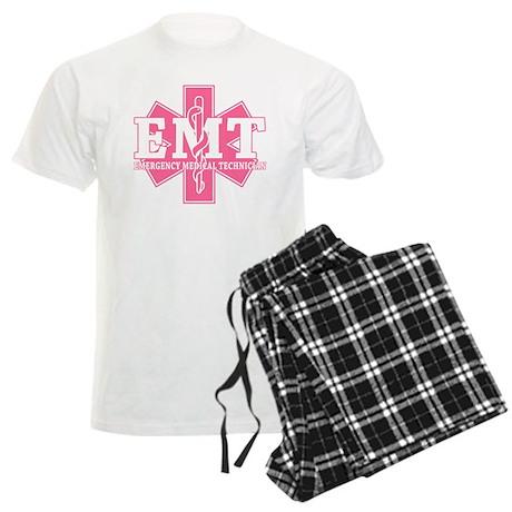 Star of Life EMT - pink Men's Light Pajamas