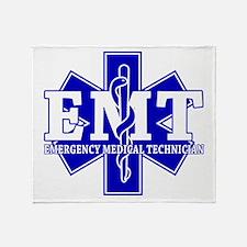 Star of Life EMT (blue) Throw Blanket