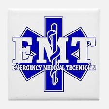 Star of Life EMT (blue) Tile Coaster