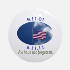 9-11 Not Forgotten Ornament (Round)