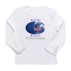 9-11 Not Forgotten Long Sleeve Infant T-Shirt