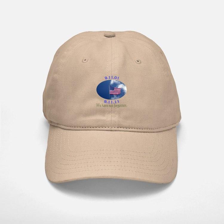 9-11 Not Forgotten Baseball Baseball Cap