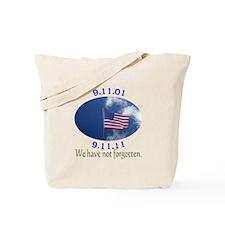 9-11 Not Forgotten Tote Bag