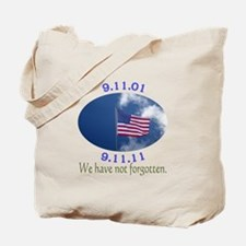 9-11 Not Forgotten Tote Bag