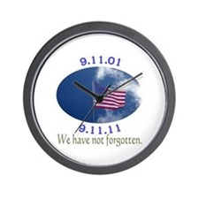 9-11 Not Forgotten Wall Clock
