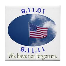 9-11 Not Forgotten Tile Coaster
