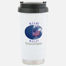 9-11 Not Forgotten Stainless Steel Travel Mug