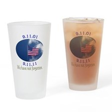 9-11 Not Forgotten Drinking Glass