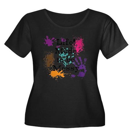 Life Women's Plus Size Scoop Neck Dark T-Shirt
