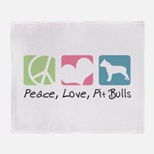 Peace, Love, Pit Bulls Throw Blanket
