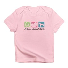 Peace, Love, Pit Bulls Infant T-Shirt
