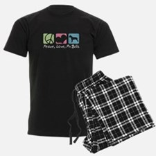 Peace, Love, Pit Bulls Pajamas