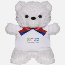 Peace, Love, Pit Bulls Teddy Bear