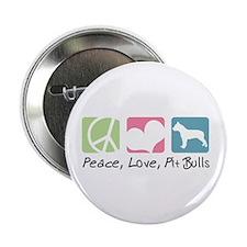 "Peace, Love, Pit Bulls 2.25"" Button (100 pack)"