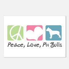 Peace, Love, Pit Bulls Postcards (Package of 8)