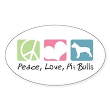 Peace, Love, Pit Bulls Decal