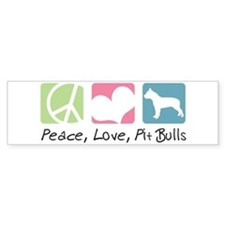 Peace, Love, Pit Bulls Bumper Sticker