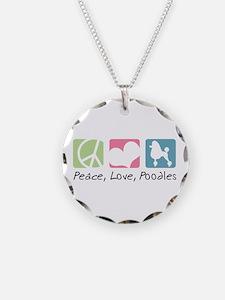 Peace, Love, Poodles Necklace