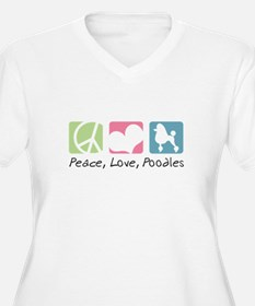 Peace, Love, Poodles T-Shirt