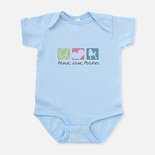 Peace, Love, Poodles Infant Bodysuit