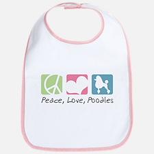 Peace, Love, Poodles Bib