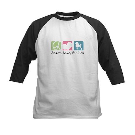 Peace, Love, Poodles Kids Baseball Jersey