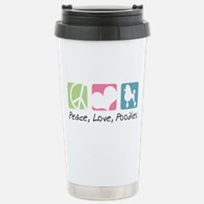 Peace, Love, Poodles Travel Mug