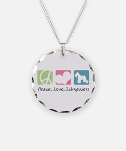 Peace, Love, Schnauzers Necklace