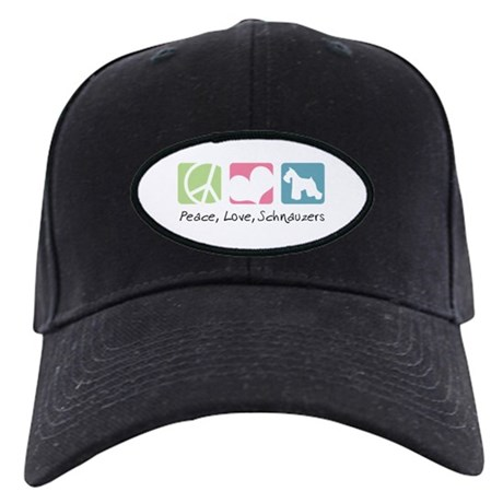 Peace, Love, Schnauzers Black Cap