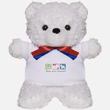 Peace, Love, Schnauzers Teddy Bear