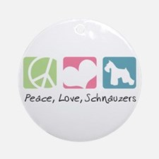 Peace, Love, Schnauzers Ornament (Round)