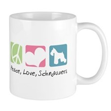 Peace, Love, Schnauzers Mug