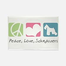 Peace, Love, Schnauzers Rectangle Magnet
