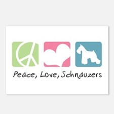 Peace, Love, Schnauzers Postcards (Package of 8)