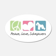 Peace, Love, Schnauzers 22x14 Oval Wall Peel