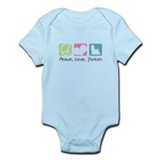 Peace, Love, Yorkies Infant Bodysuit