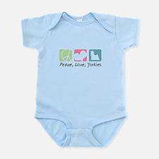 Peace, Love, Yorkies Infant Bodysuit