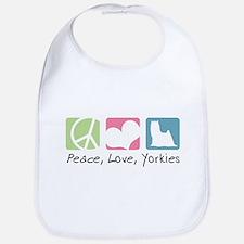 Peace, Love, Yorkies Bib