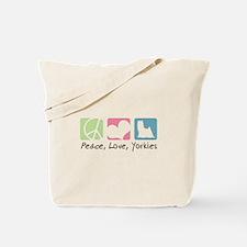 Peace, Love, Yorkies Tote Bag