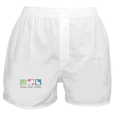 Peace, Love, Yorkies Boxer Shorts
