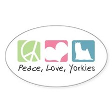 Peace, Love, Yorkies Decal