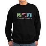 Peace, Love, Chihuahuas Sweatshirt (dark)