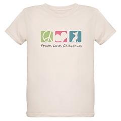 Peace, Love, Chihuahuas Organic Kids T-Shirt