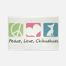 Peace, Love, Chihuahuas Rectangle Magnet (100 pack
